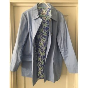 Lilly Pulitzer Cotton Trench Jacket